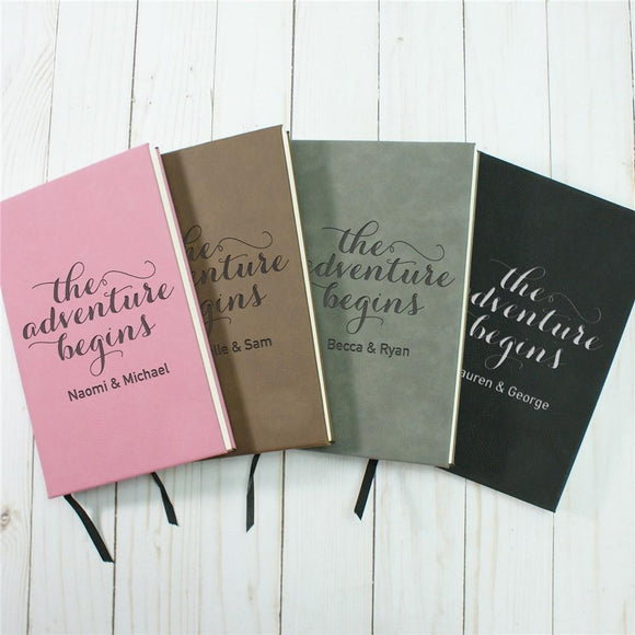 Personalized The Adventure Begins Leather Journal-Personalized Gifts