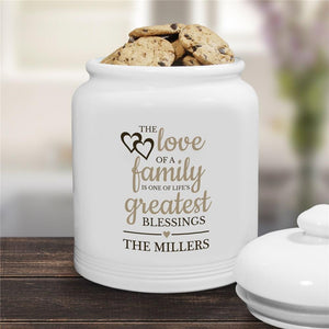 Personalized The Love of Family Cookie Jar-Personalized Gifts