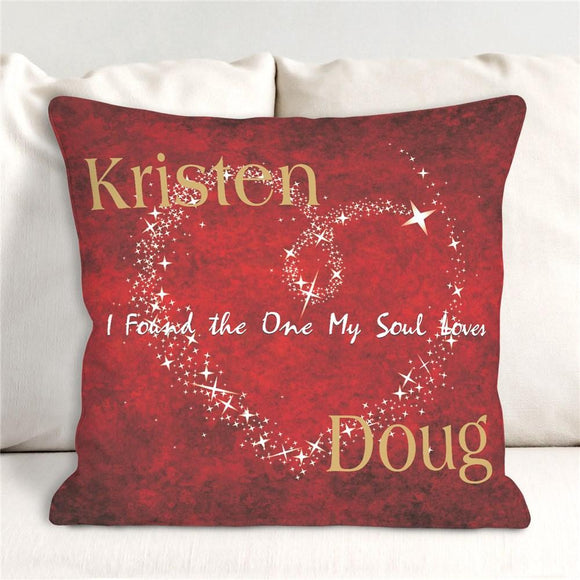 Personalized The One My Soul Loves Throw Pillow-Personalized Gifts