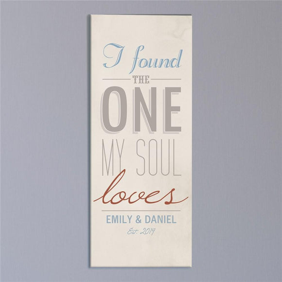Personalized The One My Soul Loves Wall Canvas-Personalized Gifts
