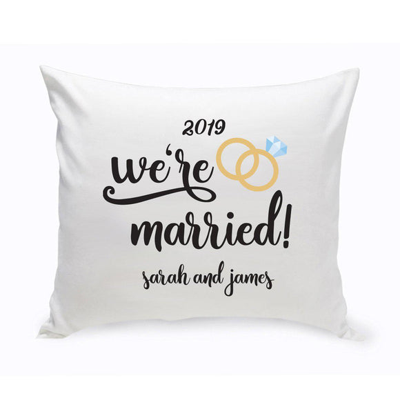 Personalized Throw Pillow - We're Married-Personalized Gifts