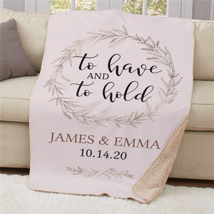 Personalized To Have And To Hold Sherpa Throw-Personalized Gifts