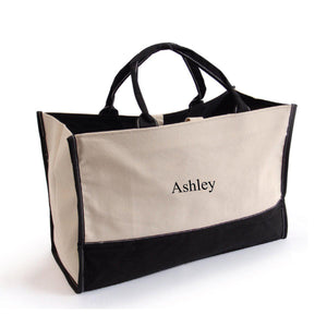 Personalized Tote Bag - Canvas - Embroidered - Summer Bag-Personalized Gifts