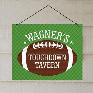 Personalized Touchdown Tavern Wall Sign-Personalized Gifts