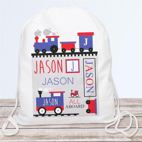 Personalized Train Travel Sports Bag-Personalized Gifts