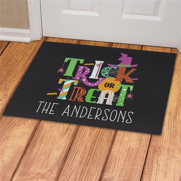 Personalized Trick Or Treat Doormat-Personalized Gifts