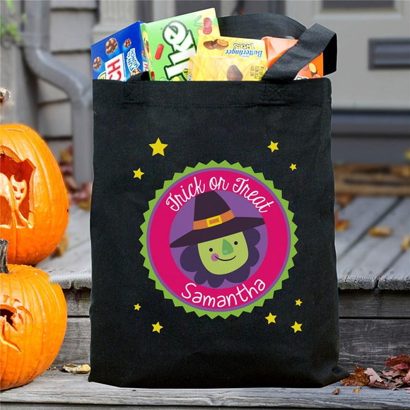 Personalized Trick Or Treat Witch Bag-Personalized Gifts