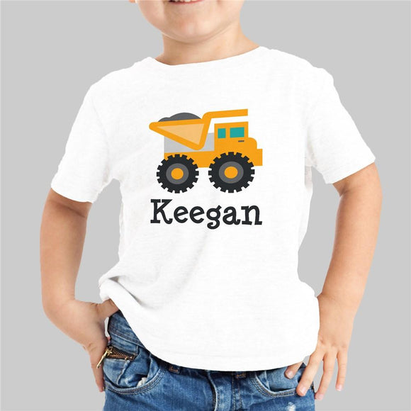 Personalized Truck Boy's Youth T-Shirt-Personalized Gifts
