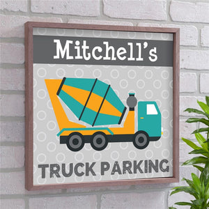 Personalized Truck Parking Wall Decor-Personalized Gifts