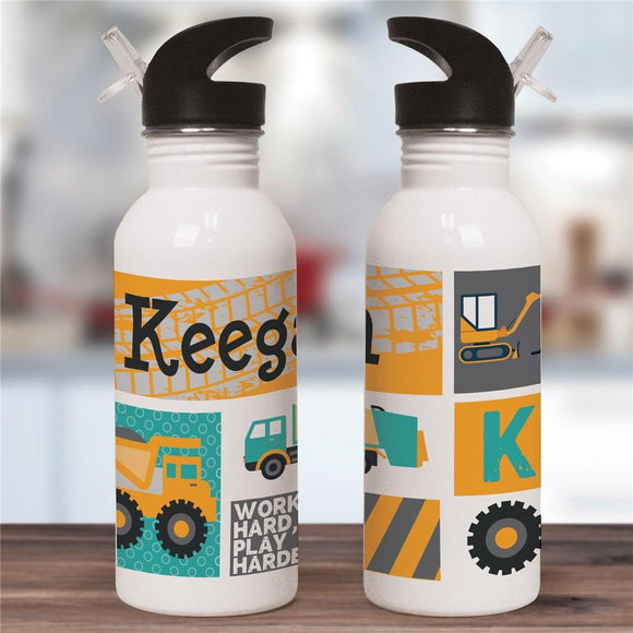 Personalized Truck Water Bottle-Personalized Gifts
