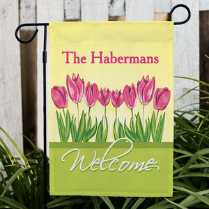Personalized Tulips Garden Flag-Personalized Gifts