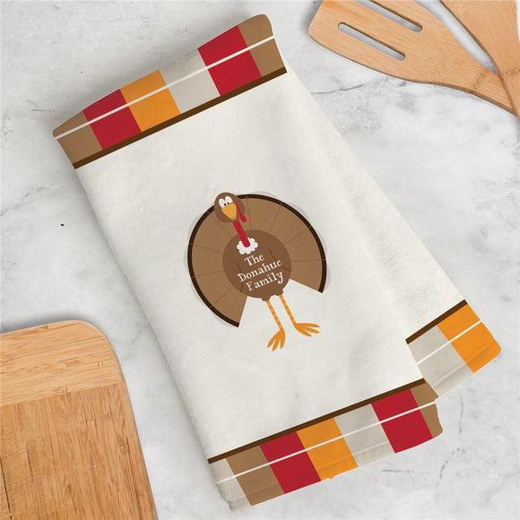 Personalized Turkey Welcome Dish Towel-Personalized Gifts