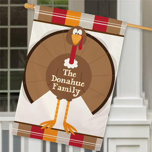Personalized Turkey Welcome House Flag-Personalized Gifts