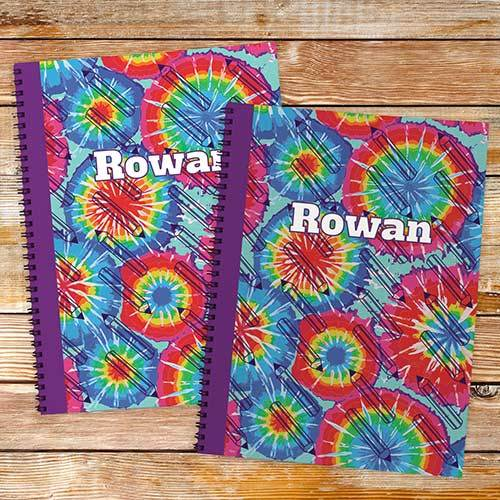 Personalized Tye Dye Notebook set-Personalized Gifts