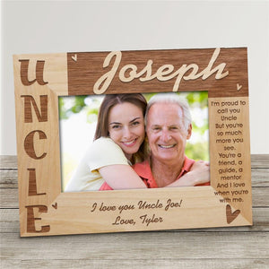Personalized Uncle Picture Frame-Personalized Gifts