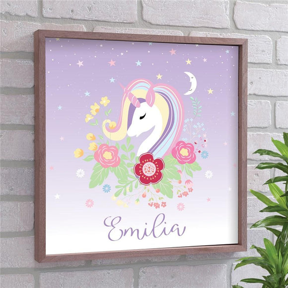 Personalized Unicorn Framed Wall Decor-Personalized Gifts