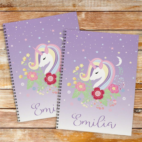 Personalized Unicorn Notebook Set-Personalized Gifts