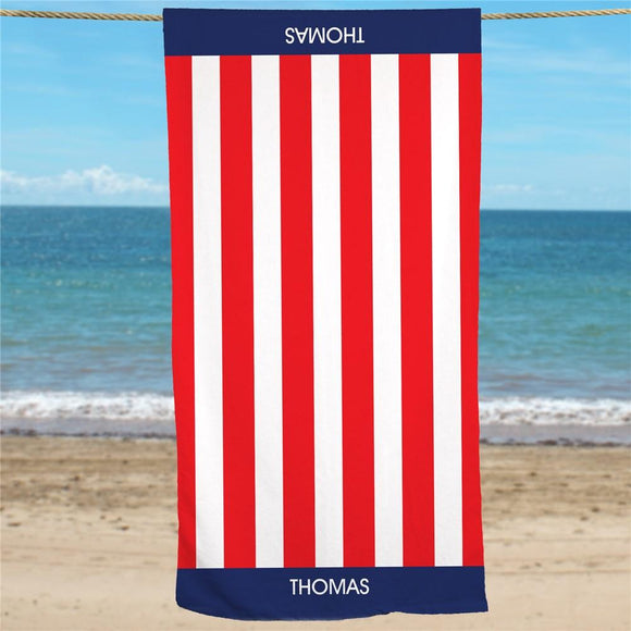Personalized USA Pride Beach Towel-Personalized Gifts