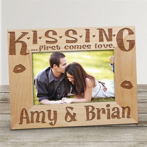 Personalized Valentine's Day Kiss me Frame-Personalized Gifts