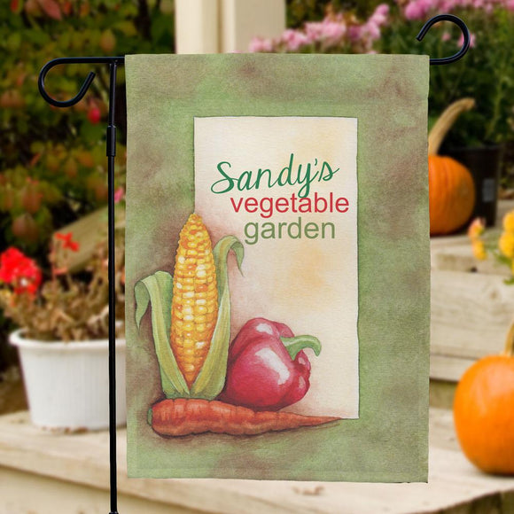 Personalized Vegetable Garden Flag-Personalized Gifts