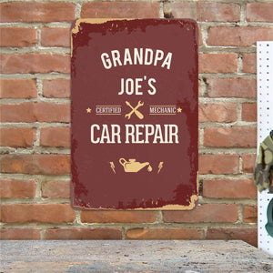 Personalized Vintage Car Repair Sign-Personalized Gifts