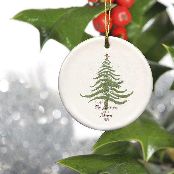 Personalized Vintage Christmas Tree Ornament-Personalized Gifts