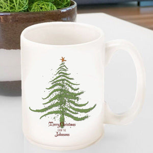 Personalized Vintage Holiday Coffee Mug - All-Personalized Gifts