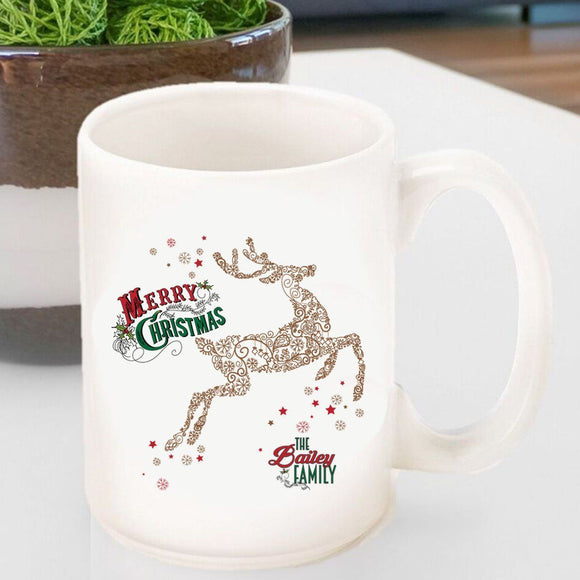 Personalized Vintage Holiday Coffee Mugs - All-Personalized Gifts