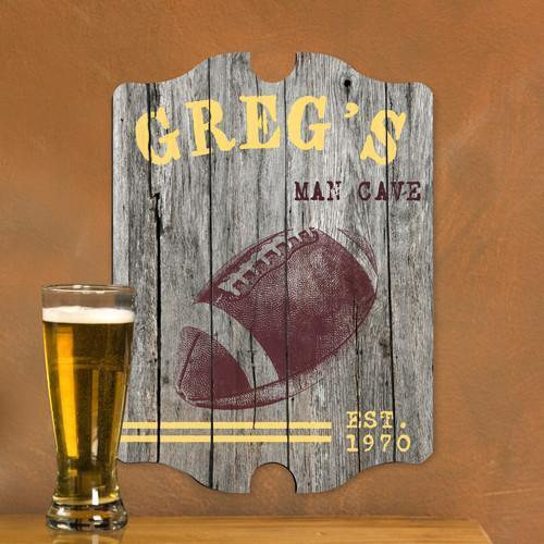 Personalized Vintage Man Cave Pub Sign - Football-Personalized Gifts
