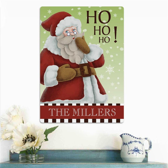 Personalized Vintage Santa Wall Sign-Personalized Gifts