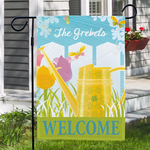 Personalized Watering Can Garden Flag-Personalized Gifts