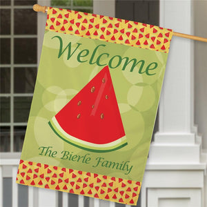 Personalized Watermelon House Flag-Personalized Gifts