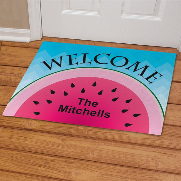 Personalized Watermelon Welcome Doormat-Personalized Gifts