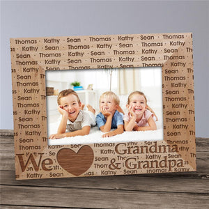 Personalized We Love Grandma & Grandpa Picture Frame-Personalized Gifts