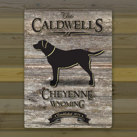 Personalized Weathered Wood Welcome to the Lake Canvas Sign-Personalized Gifts