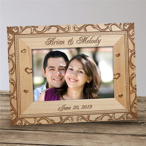 Personalized Wedding Couple Picture Frame-Personalized Gifts