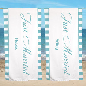 Personalized Wedding Get Away Beach Towel-Personalized Gifts