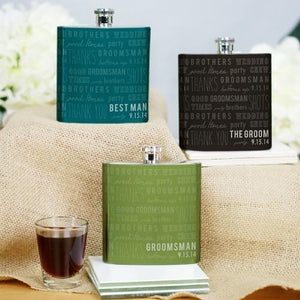 Personalized Wedding Party Flask-Personalized Gifts