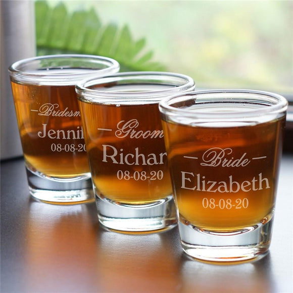 Personalized Wedding Shot Glass-Personalized Gifts