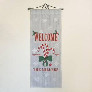 Personalized Welcome Candy Canes Wall Hanging-Personalized Gifts