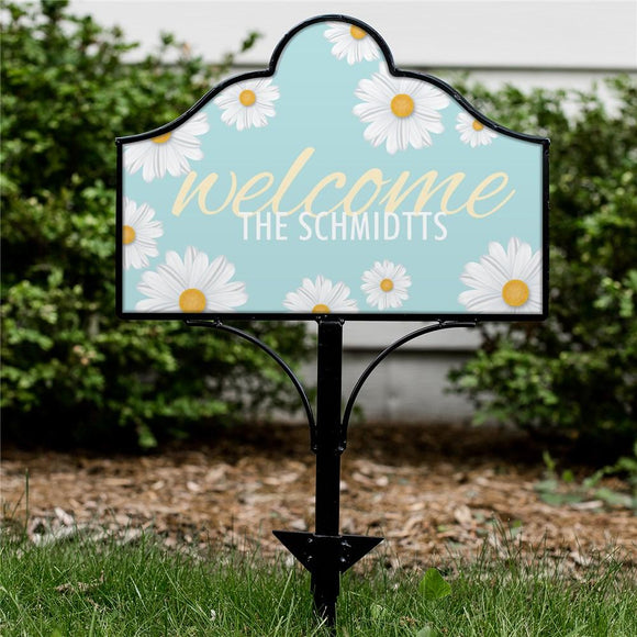 Personalized Welcome Daisies Magnetic Sign-Personalized Gifts