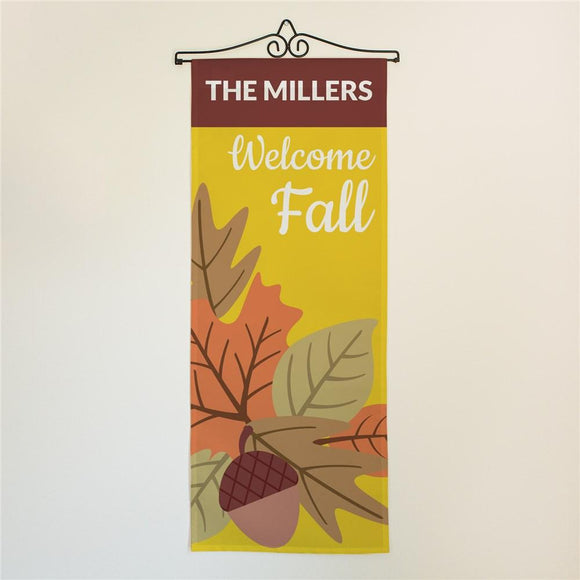 Personalized Welcome Fall Door Banner-Personalized Gifts