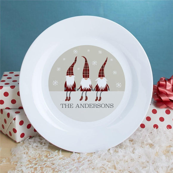 Personalized Welcome Gnome Plate-Personalized Gifts