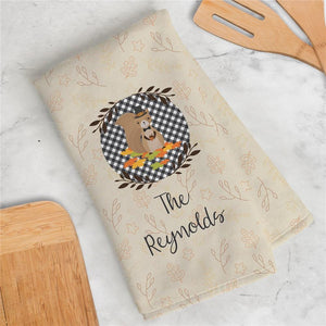 Personalized Welcome Squirrel Kitchen Dish Towel-Personalized Gifts