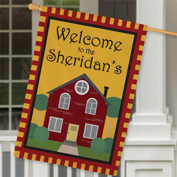 Personalized Welcome to Our Home House Flag-Personalized Gifts