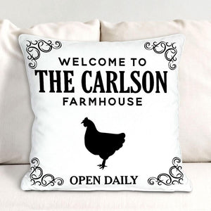 Personalized Welcome To The Farmhouse Pillow-Personalized Gifts