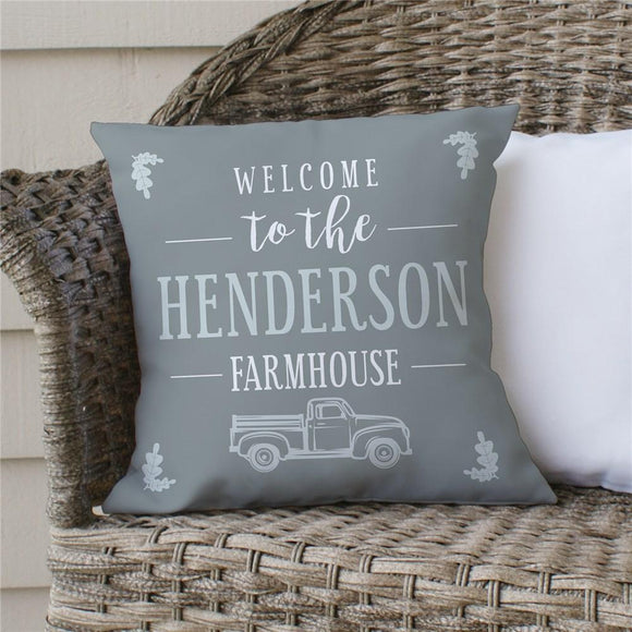 Personalized Welcome To The Farmhouse Truck Pillow-Personalized Gifts