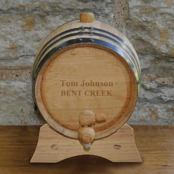 Personalized Whiskey Barrel - Bourbon - Oak - 2 Liter-Personalized Gifts