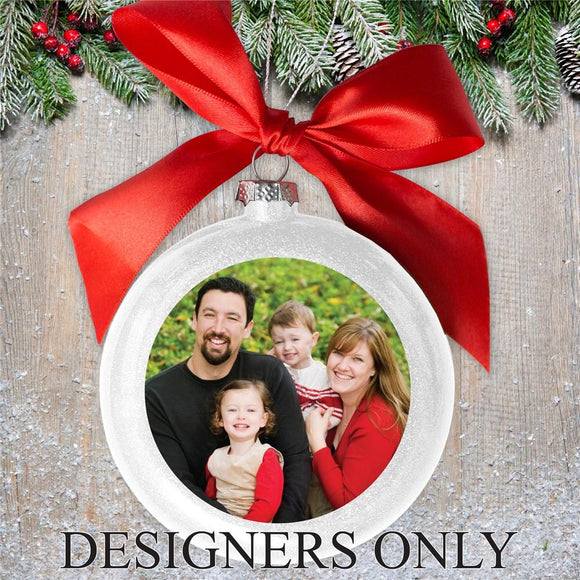 Personalized White Photo Ornament DESIGNERS ONLY-Personalized Gifts