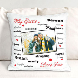 Personalized Why I Love You Photo Pillow-Personalized Gifts